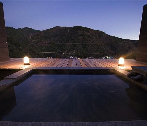 Hot Spring Bath at Aura Tachibana
