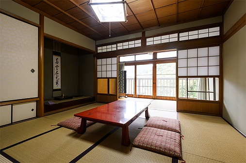 Japanese Room at a Temple on Koyasan
